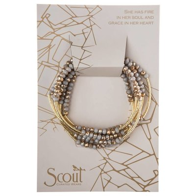 Scout Crystal Silver Lining & Gold Wrap