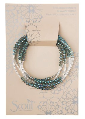 Scout Crystal Seabreeze & Silver Wrap