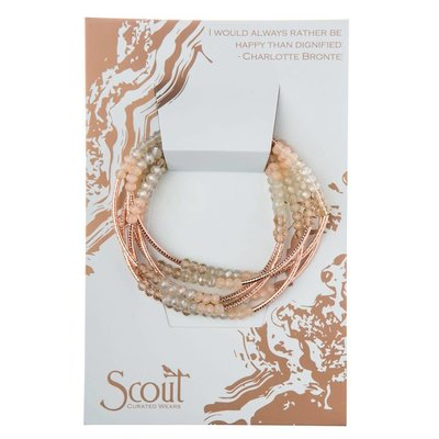 Scout Crystal Shell & Rose Gold Wrap