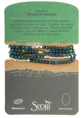 Scout Blue & Green Azurite Stone Wrap