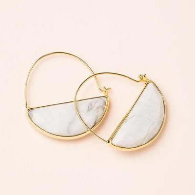 Scout Howlite & Gold Stone Prism Hoop