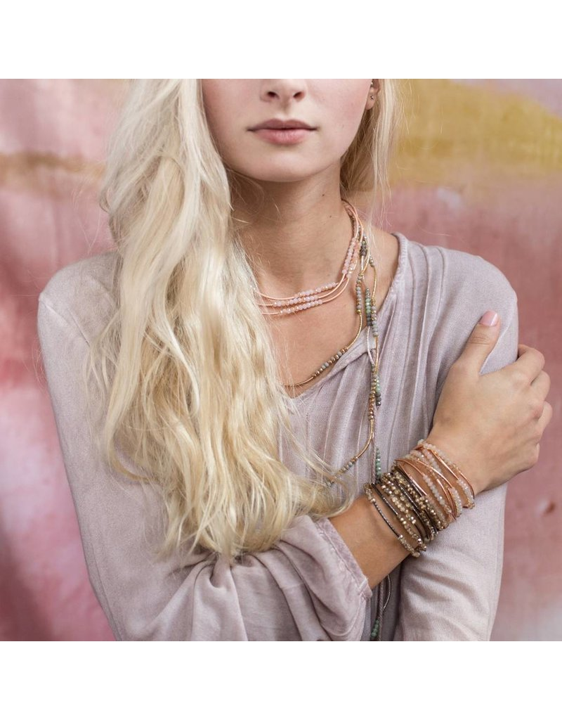 Scout Crystal Shell & Rose Gold Scout Wrap