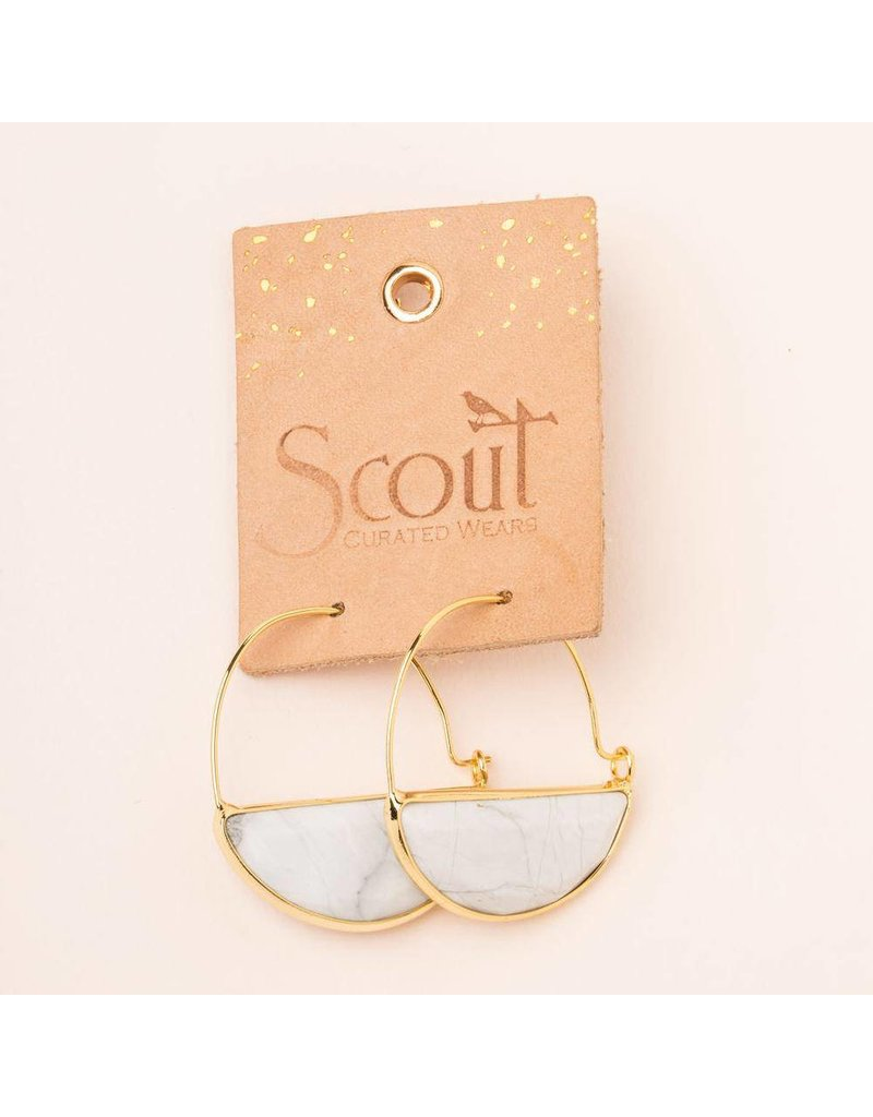 Scout Labradorite & Gold Stone Prism Hoop