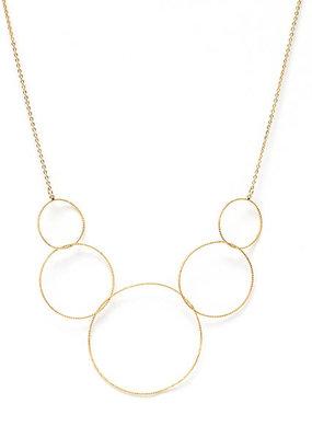 Splendid Iris Graduating Gold Delicate Circles, Necklace