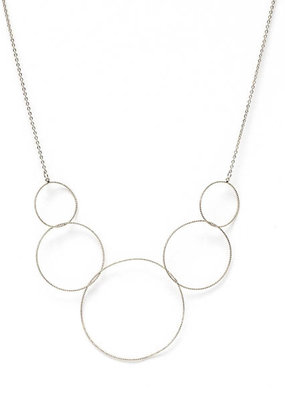 Splendid Iris Graduating Silver Delicate Circles, Necklace