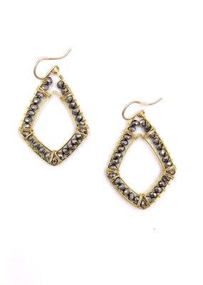 Sonya Renee Ryan Earrings Gold And Mystic Lab