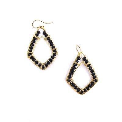 Ryan Earrings Black Crystal