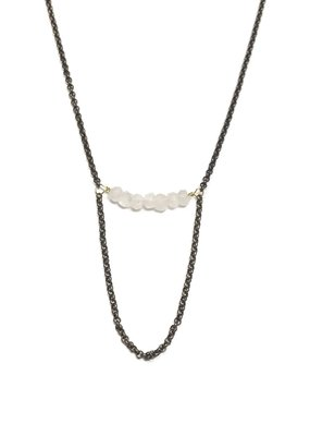 Seeds Jewelry Brass Moonestone Half Smile Handmade Necklace