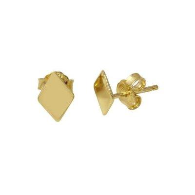 Sterling Gold Diamond Shaped Studs