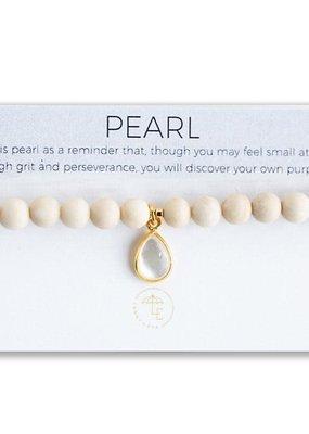 Lenny & Eva Berklee Stretch Bracelet Pearl