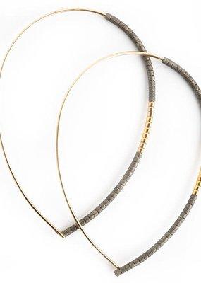 Lenny & Eva Norah Earrings Matte Graphite