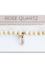 Lenny & Eva Berklee Stretch Bracelet Rose Quartz