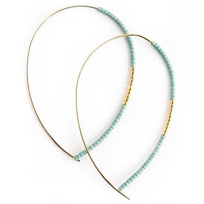 Lenny & Eva Norah Earrings Matte Turquoise