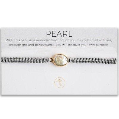 Lenny & Eva Elin Cord Bracelet Pearl