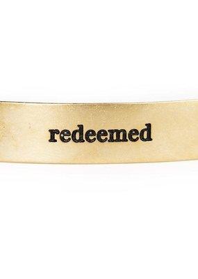 Lenny & Eva REDEEMED Faith Over Fear Sentiment Gold