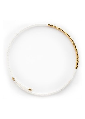 Lenny & Eva Norah Bangle White Opal