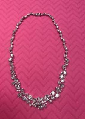 DS Bridal Cubic Zirconia Formal Necklace
