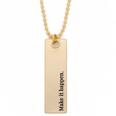 "Lenny & Eva 36"" Make it Happen Gold Bar Pendant Necklace"