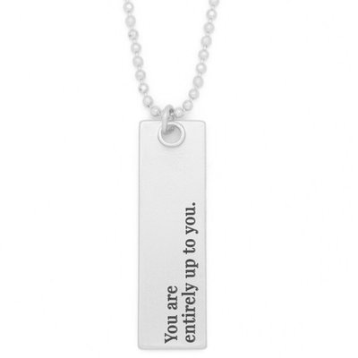 """Lenny & Eva 36"""" Entirely Up to You Silver Bar Pendant Necklace"""