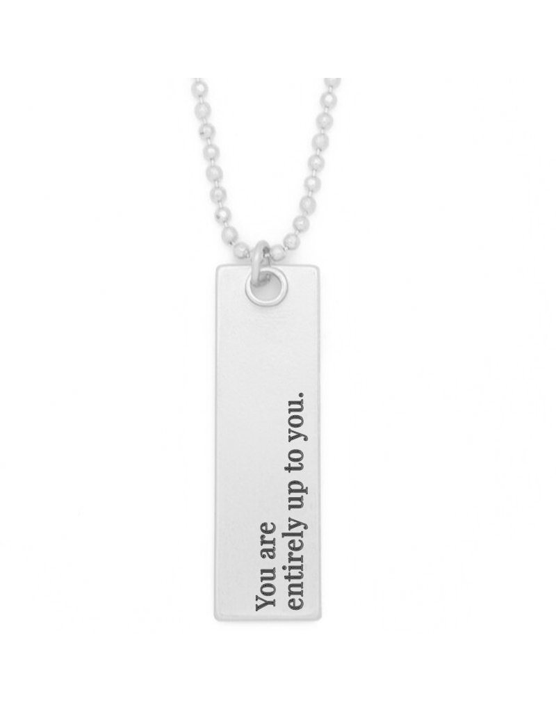 Lenny & Eva Entirely Up to You Silver Bar Pendant Necklace