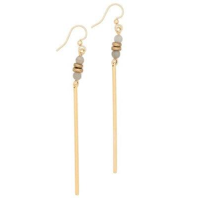 Lenny & Eva Gray Agate Jerry Gemstone Earrings