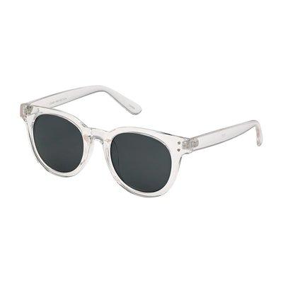 Blue Gem Clear Heritage Modern Round Style Sunglasses