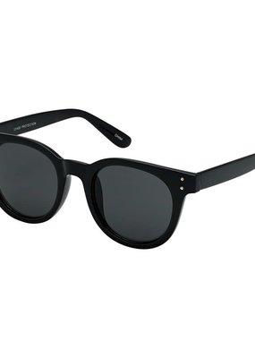 Blue Gem Black Heritage Modern Round Style Sunglasses