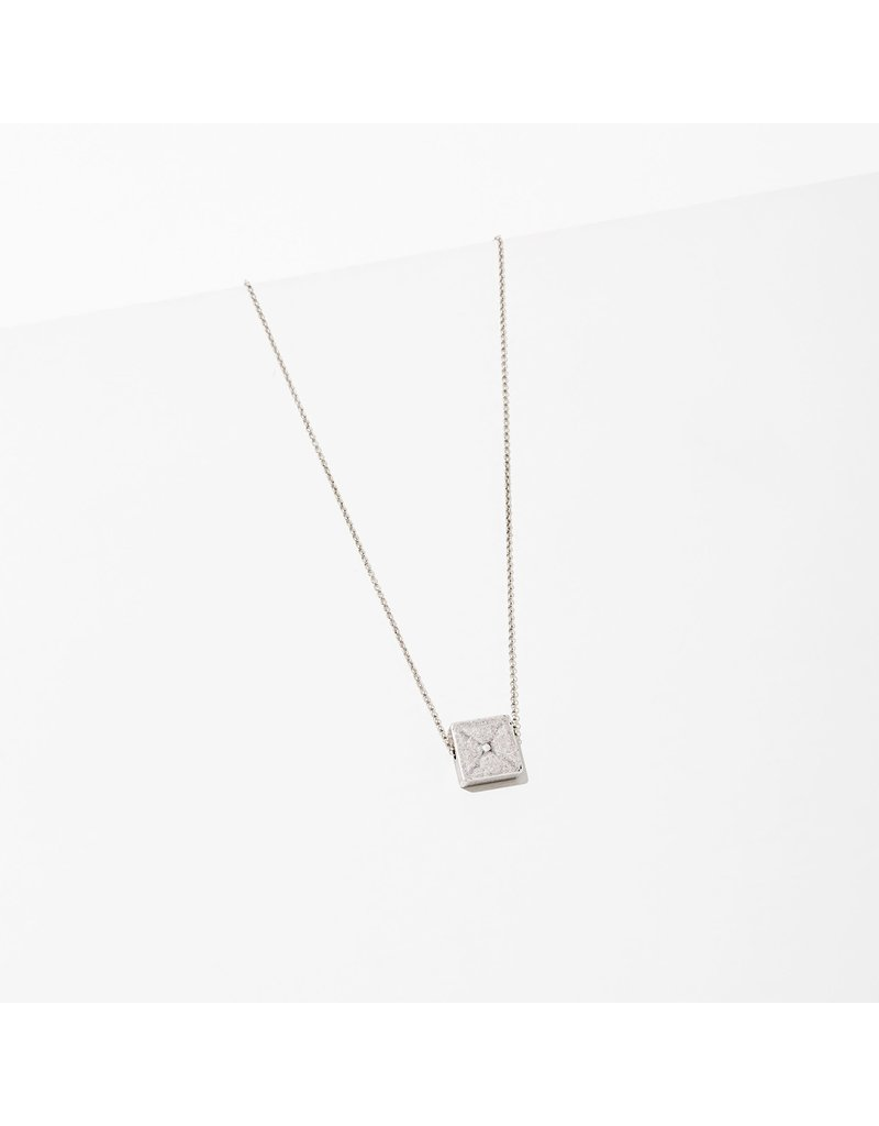 Larissa Loden Silver Polymath Square Necklace