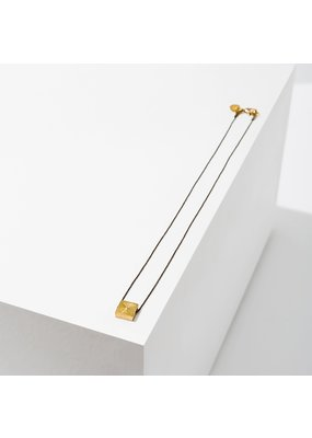 Larissa Loden Brass Polymath Square Necklace