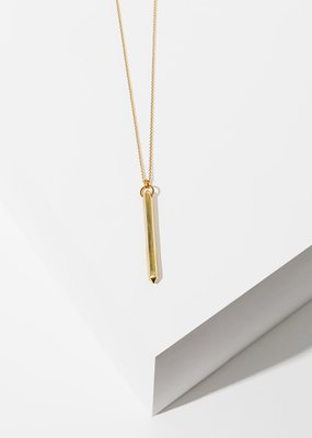 Larissa Loden Brass Ebo Necklace