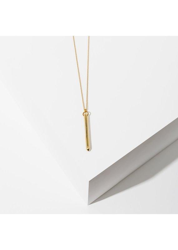 Larissa Loden Brass Ebo Necklace