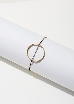 Larissa Loden Golden Brass Horizon Large Circle Bracelet