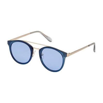 Blue Gem Combo Plastic w Metal Bridge Blue w Blue lens