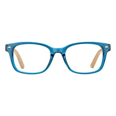 Bradford Crystal Teal & Pear Wood 2.00 Reader Lens