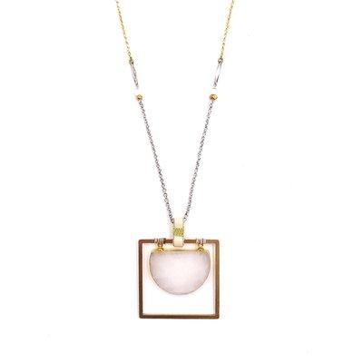 Nakamol Hetty Pendant Gold Long Necklace