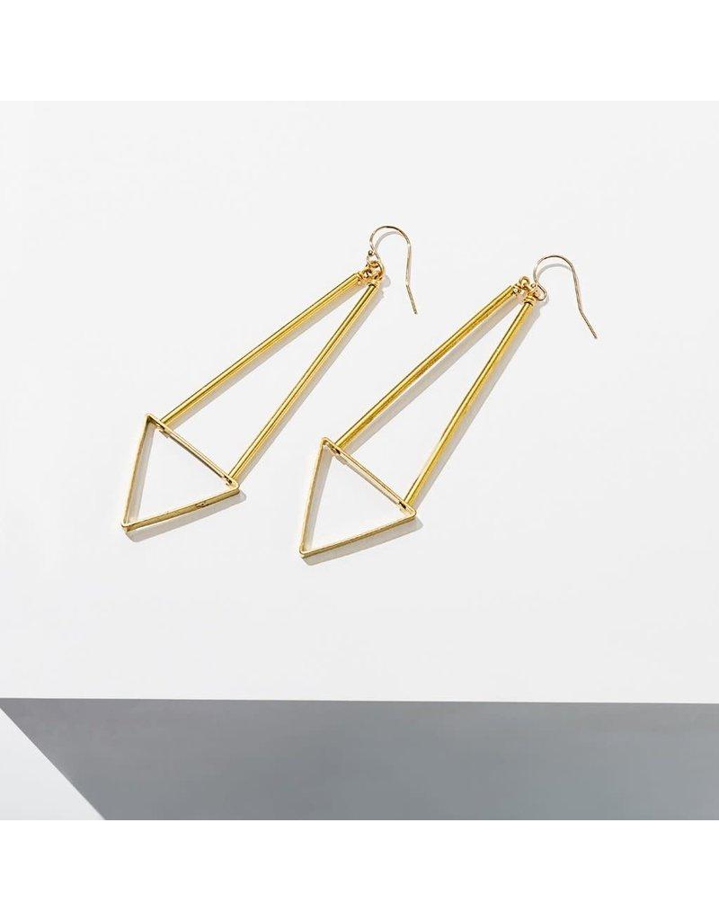 Larissa Loden Triangle Spire Earrings