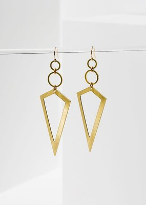 Larissa Loden Brass Vertigo Earrings