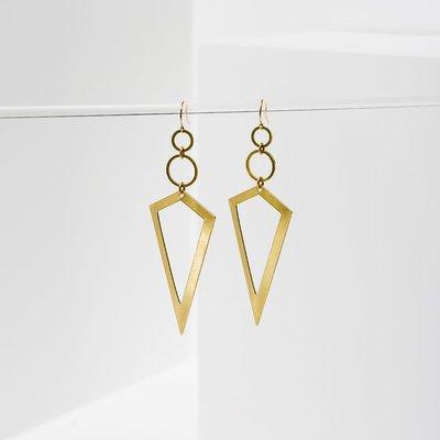 Larissa Loden Brass Vertigo Earrings