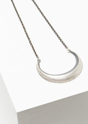 Larissa Loden Silver Cresent Moon Necklace