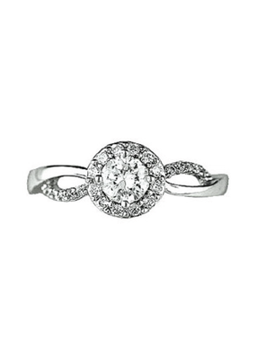 Sterling Silver Infinity Style CZ Ring SZ 8