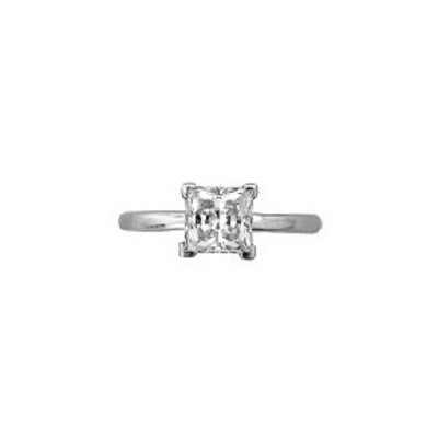 Sterling Silver Square CZ Ring SZ 8