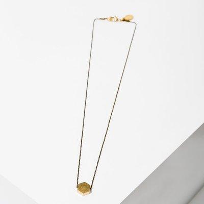 Larissa Loden Brass Polymath Hexagon Necklace