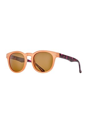 Blue Planet India Jelly Orange w Crystal Brown Tortoise Wirecore & Polarized Brown Lens