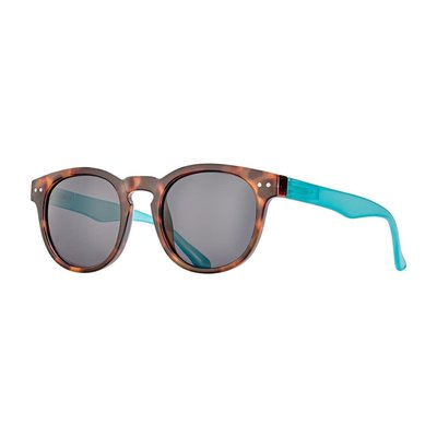 Blue Planet India Jelly Tortoise Brown & Blue Wirecore w Smoke Polarized Lens