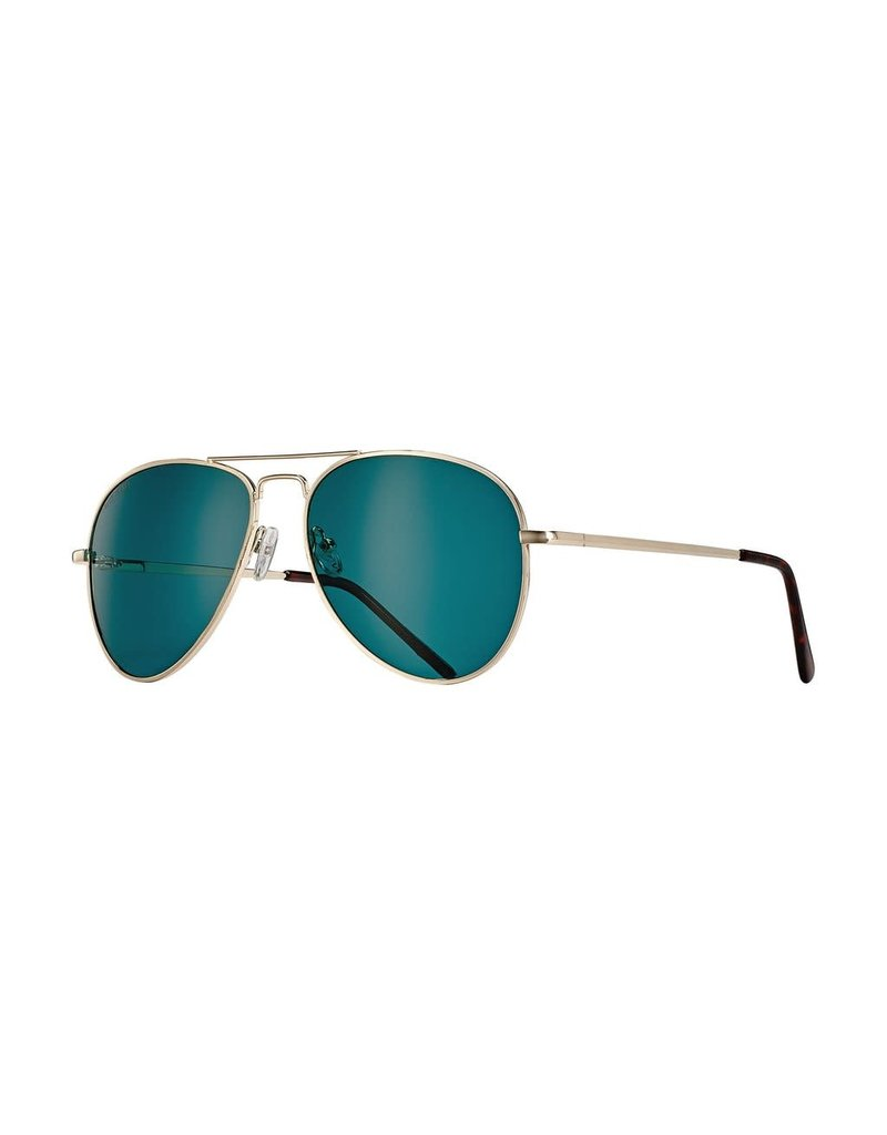 Blue Planet Lear Gold & Tortoise Tips w Green Polarized Lens