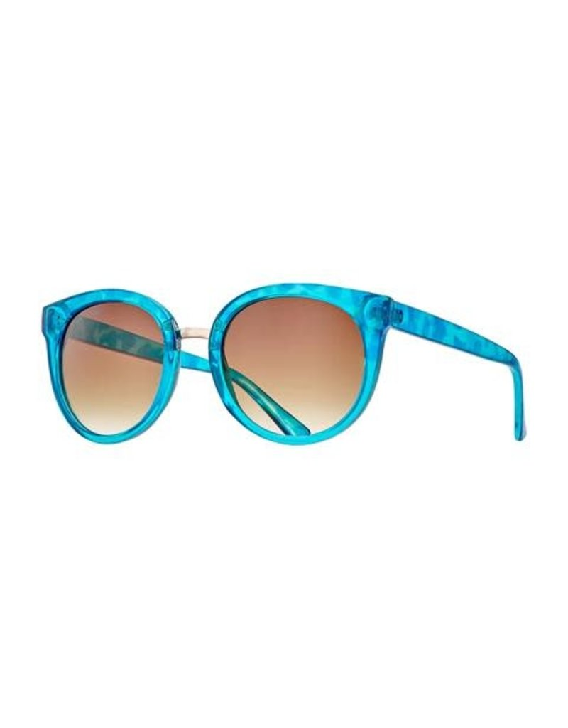 Blue Planet Mayne Turquoise Tortoise & Gold w Gradient Brown Polarized Lens