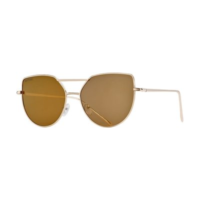 Blue Planet Mila Gold w Amber Gold Flash Mirror Polarized Lens