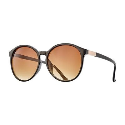 Blue Planet Miri Black Onyx & Gold w Gradient Brown Polarized Lens