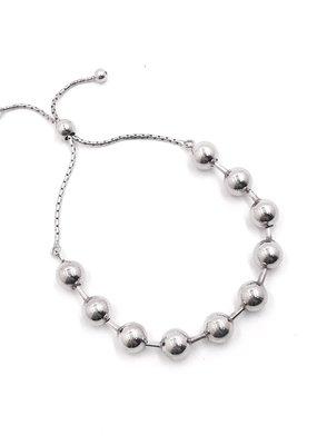 Qualita In Argento Sterling Silver Ball Adjustable Bracelet