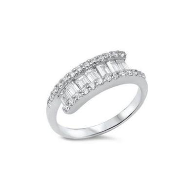 Sterling Silver CZ Ring SZ 9